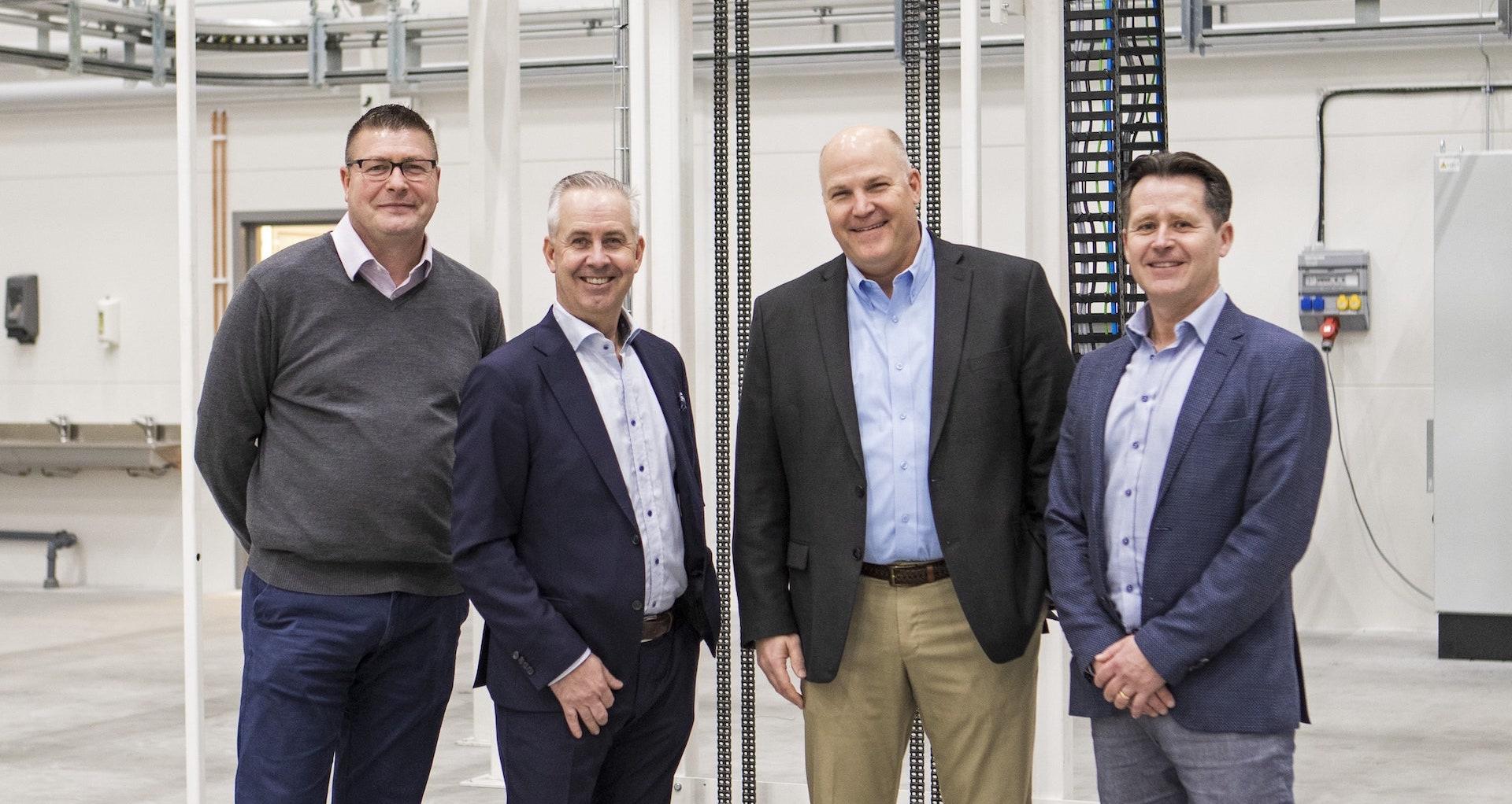 Group Photo from left: Steve Groocock, Kenth Almqvist, –, Christer Lundgren